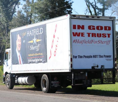 No tag was observed to visible on the box truck which has been driven over the parish for the past few months.
