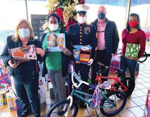 Caddo Parish makes donation to 2020 Toys for Tots Campaign