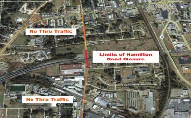 Hamilton Road Closure Scheduled to Begin Mid-Month
