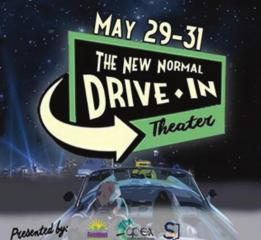 Drive-in movies in downtown Shreveport