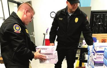 Local college, mall donate personal protective equipment to BCFD, hospitals
