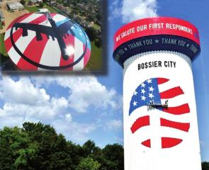 Newly painted Bossier City water tower up for Tank of the Year - Cast Your Vote!!!