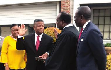 Hunter sworn in as first African-American Caddo constable