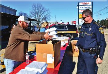 Tubbs Hardware Feeds Law Enforcement Officers Working on Christmas Day